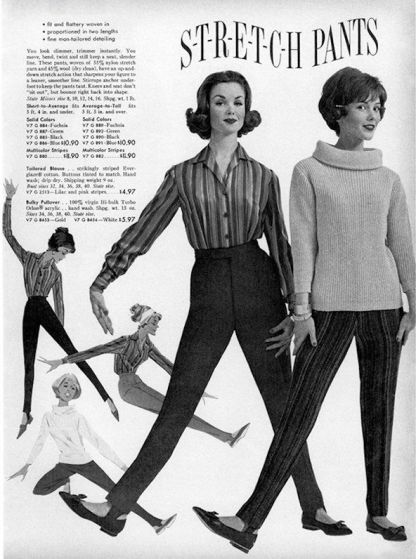 Stretch pants from the 1961 Sears catalogue!